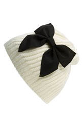 Women's Kate Spade New York Diagonal Rib Knit Beanie Ivory Cream