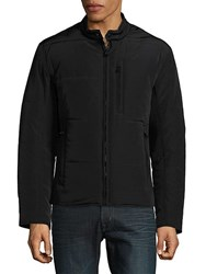 Andrew Marc New York Quilted Moto Jacket Black