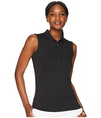 Callaway Opti Dri Micro Hex Sleeveless Polo Caviar Black