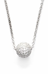 Bony Levy Small Diamond Pave Ball Pendant Necklace Limited Edition Nordstrom Exclusive White Gold