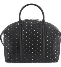 Givenchy Cross Leather Overnight Bag Black White