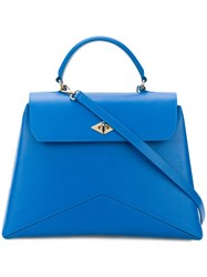 Ballantyne Geometric Detail Tote Blue