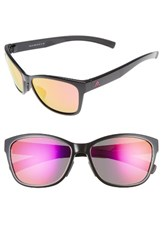 Adidas Women's Excalate 58Mm Mirrored Sunglasses Shiny Black Purple Mirror Shiny Black Purple Mirror