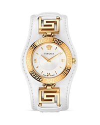Versace Signature Rose Gold And White Dial Watch 35Mm