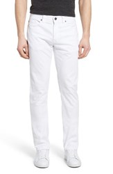 Fidelity Men's Denim Overdyed Straight Leg Jeans White