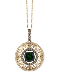 Le Vian Chrome Diopside 2 Ct. T.W. And Diamond 3 4 Ct. T.W. Pendant Necklace In 14K Gold
