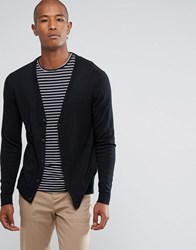 Selected Homme Cotton Silk Mix Cardigan Black