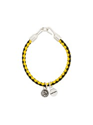 Diesel Woven Charm Bracelet Yellow And Orange