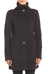 Women's Patagonia 'Better Sweater' Button Front Shirred Coat Black