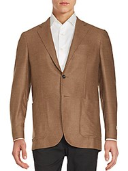 Canali Solid Double Face Sportcoat Beige