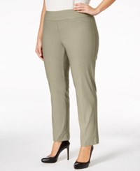 Charter Club Plus Size Cambridge Tummy Control Pull On Pants Only At Macy's Sedona Dust