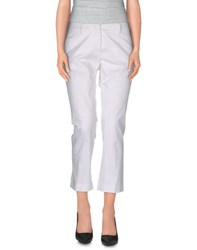 Peserico Sign Trousers 3 4 Length Trousers Women White