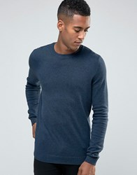 New Look Crew Neck Jumper In Indigo Indigo Navy