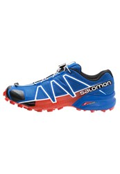 Salomon Speedcross 4 Trail Running Shoes Blue Yonder Black Lava Orange
