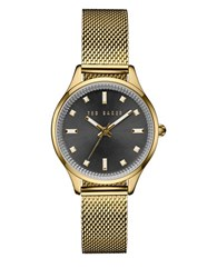 Ted Baker Zoe Dress Sport Analog Mesh Bracelet Watch Gold