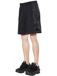Juun.J Cotton And Nylon Shorts W Side Zips Black