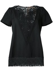 N 21 No21 Lace Detail T Shirt Black