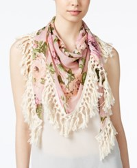 Steve Madden Keep Blooming Triangle Scarf Blush