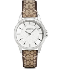 Coach 14501525 Classic Signature Stainless Steel Watch Silver