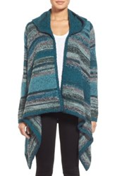 Curio Space Dyed Hooded Cardigan Blue