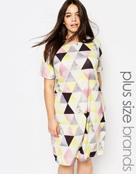 Pink Clove Graphic Print Shift Dress Multi