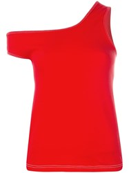 Jacquemus 'Le Marcel Qui Tombe' Top Red
