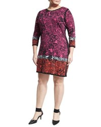 Nic Zoe Star Flower Printed Tunic Dress Multi