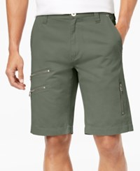 Inc International Concepts Men's Zip Detail Shorts Created For Macy's Artichoke