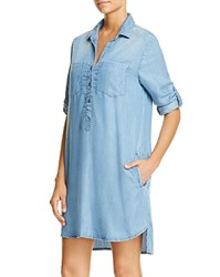Beachlunchlounge Phoebe Chambray Shirt Dress 100 Bloomingdale's Exclusive Medium Blue