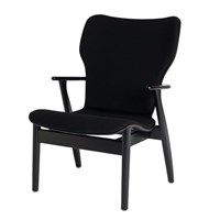 Artek Domus Birch Leather Lounge Chair