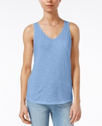 Maison Jules Cotton V Neck Tank Top Only At Macy's Water Drop