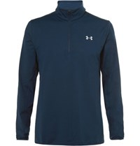 Under Armour Fleece Back Stretch Jersey Half Zip Golf Top Navy