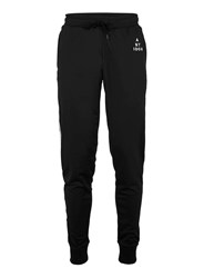 Topman Antioch Black Track Joggers With Side Panel Taping Blue