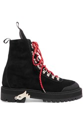 Off White Hiking Suede Boots Black