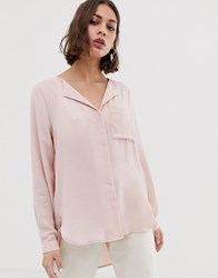 Selected Dynella Rever Collar Shirt Pink