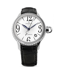 Charriol Colvmbvs Round Steel Watch 36Mm Black White