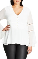City Chic Plus Size Women's Peasant Top
