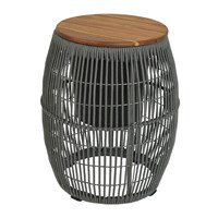 Amara Outdoor Rope Weave Side Table Grey