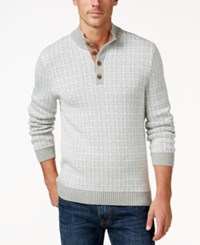 Tasso Elba Men's Four Button Sweater Only At Macy's Light Grey Combo