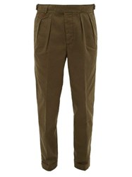 Polo Ralph Lauren Cotton Tapered Fit Trousers Khaki