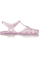 Vivienne Westwood Melissa Aranha Hits Glittered Rubber Sandals Purple