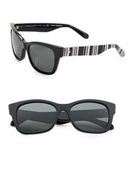 Kate Spade 53Mm Alora Wayfarer Sunglasses Black