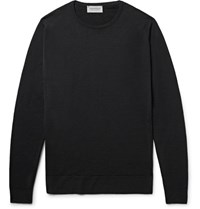 John Smedley Lundy Merino Wool Sweater Black