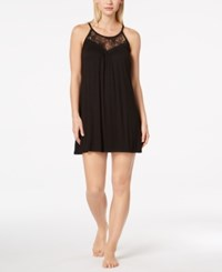 Alfani Lace Trimmed Scoop Neck Chemise Created For Macy's Black
