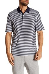 Adidas Performance 3 Color Stripe Polo Blue
