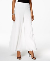 Msk Mesh Wide Leg Dress Pants Ivory