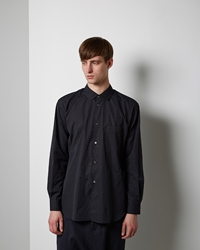 Comme Des Garcons Shirt Man Dyed Jacquard Shirt Black