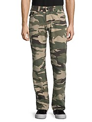 True Religion Camouflage Cotton Pants Taupe