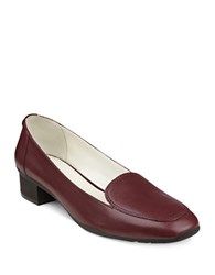 Anne Klein Daneen Leather Loafers Wine