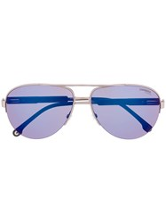 Carrera 8030 S Aviator Sunglasses Metallic